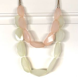 Mid length statement necklace - mint and pink!